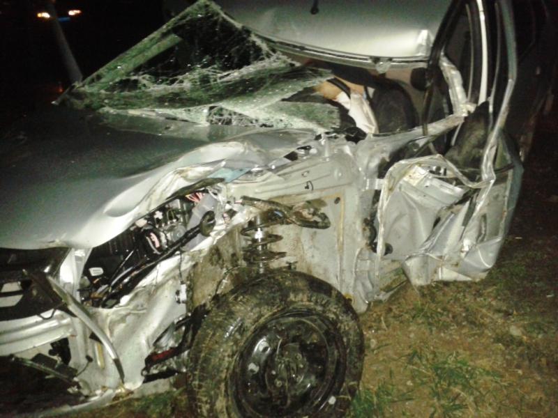 В итоге столкновения авто «Лада» и«КАМАЗ» умер шофёр легковушки