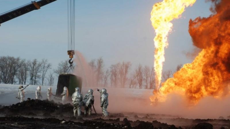 ВОренбургской области вспыхнул пожар нагазонефтяной скважине