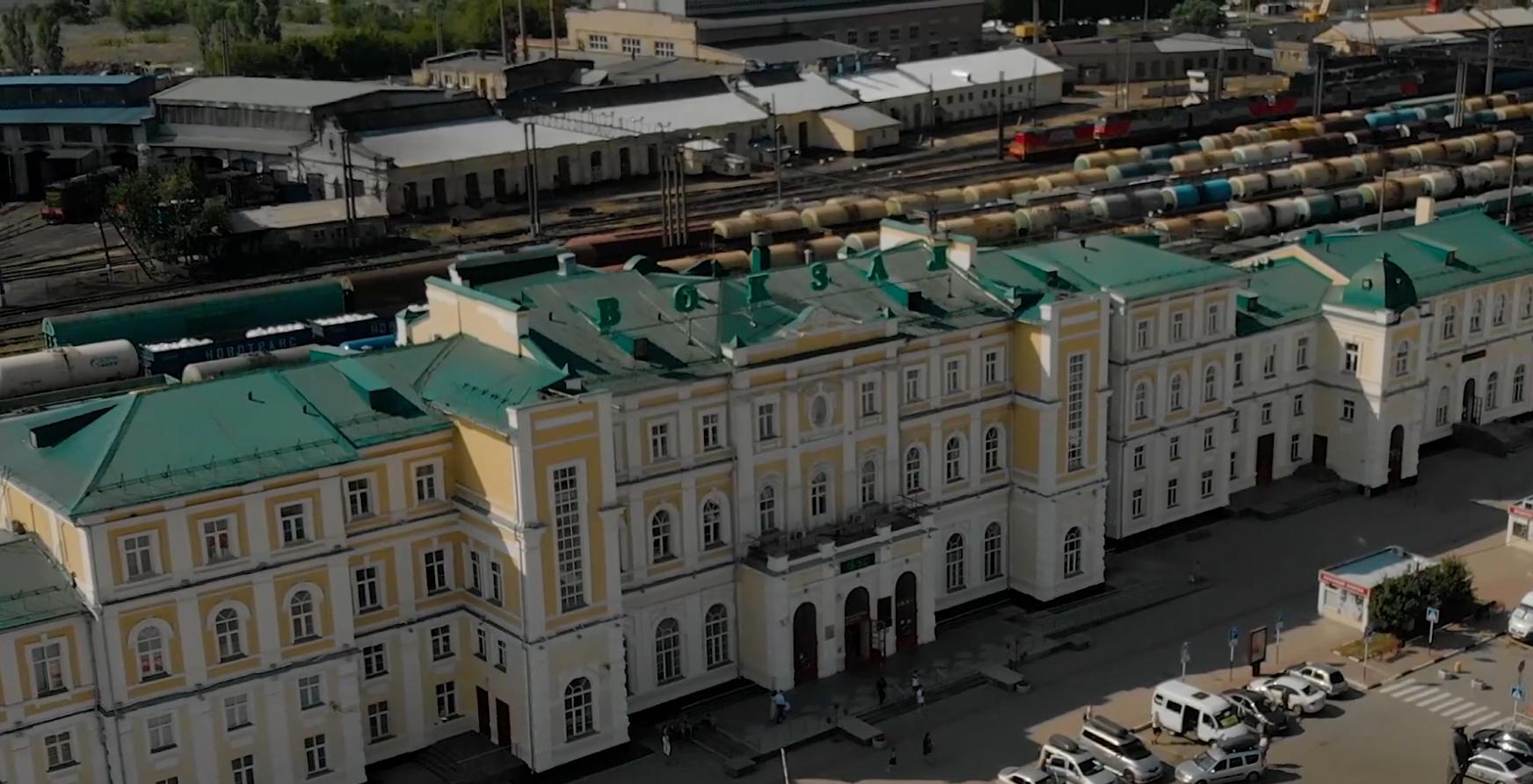 Там, где поезда. Оренбургский железнодорожный вокзал на видео Валентина Купинова