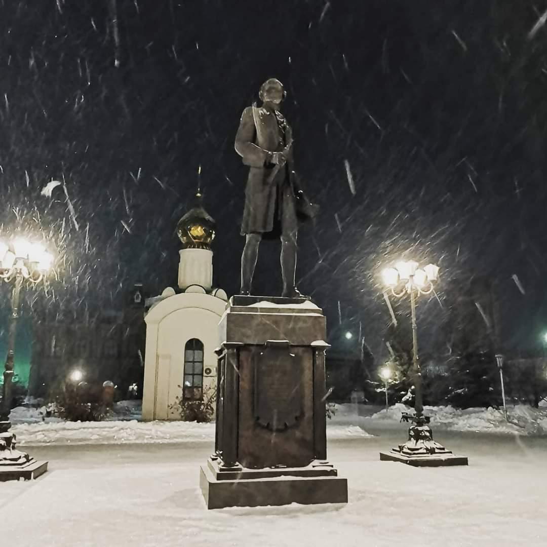 Мороз и тишина. Вечерний Бузулук в фотографиях Анатолия Панфилова